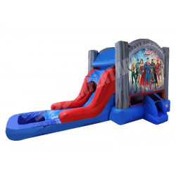 Justice League Bounce House Slide Pool