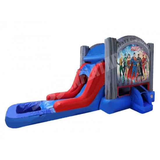 Justice League Bounce House Slide Pool
