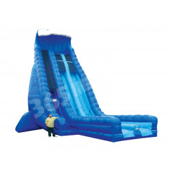 Inflatable 36ft Dry Slide Dual Lane Blue Crush