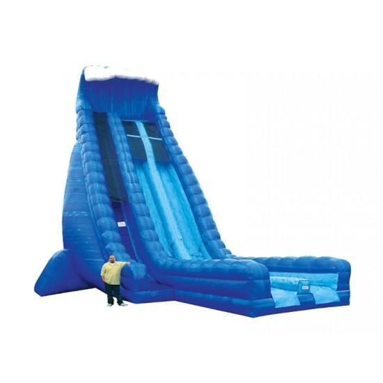 Inflatable 36ft Dry Slide Dual Lane Blue Crush