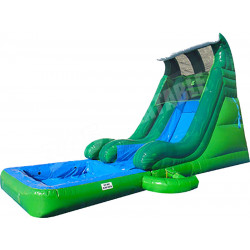 Tidal Wave Slide With Detachable Pool Green Marble
