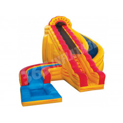 22' Corkscrew Fire Slide With Pool