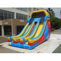 Inflatable Dry Slide 20' Dual Lane Slide With Front Exits