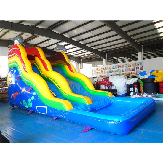 16' Dolphin Water Slide